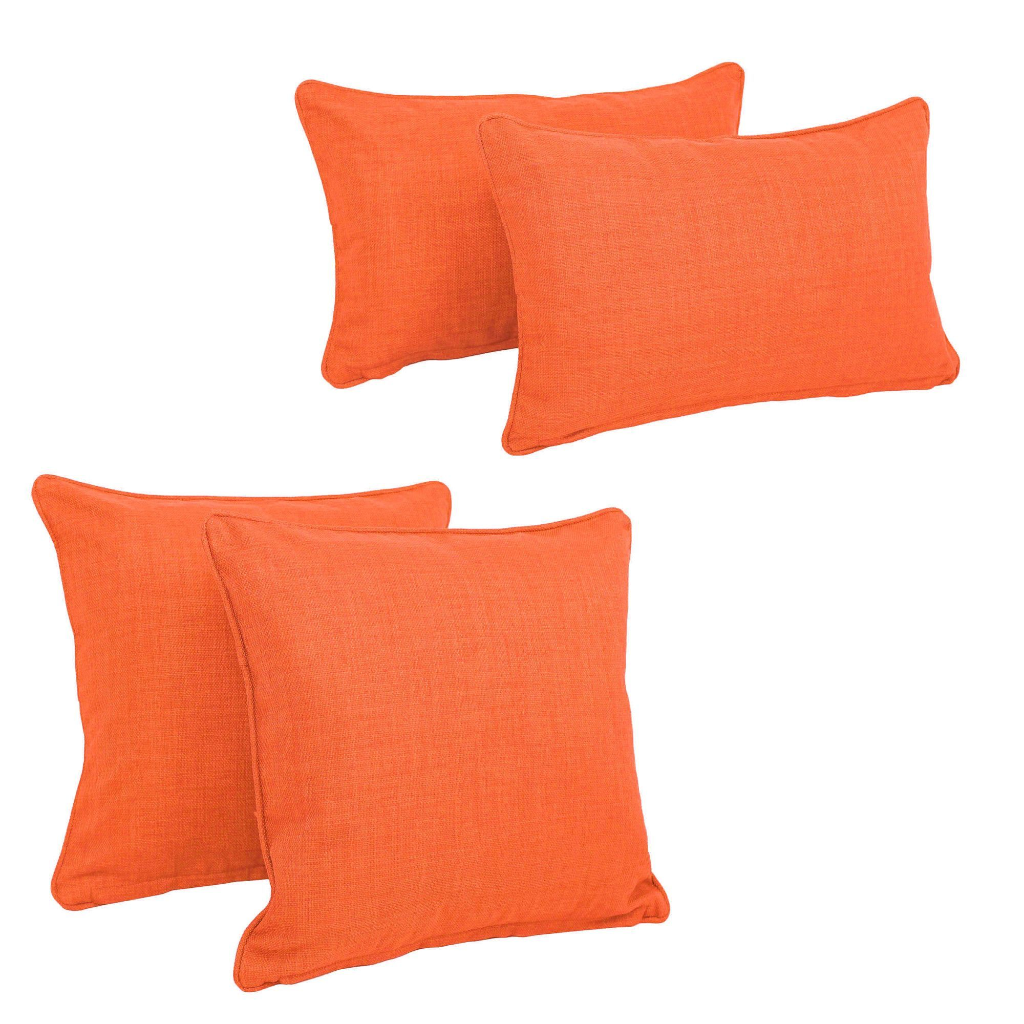 Blazing Needles Soft Home Furnishings 4 Piece Outdoor Throw Pillows ... 1711d885a