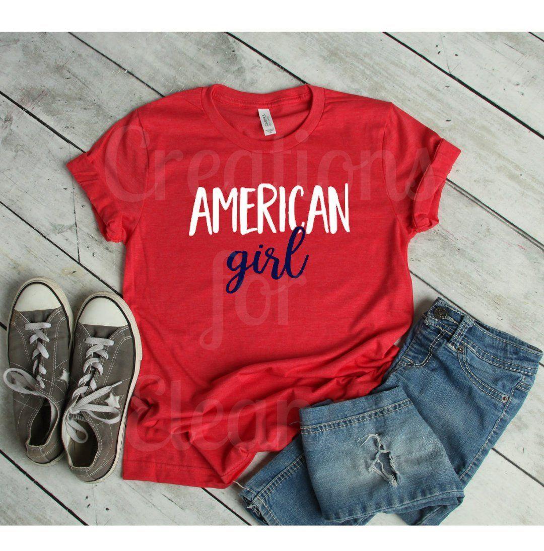 Women's Graphic Tshirt, American Tshirt, Fourth of July