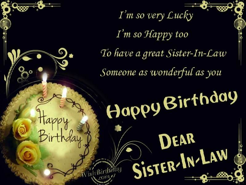 17 Best images about Happy birthday sister n law – Sister in Law Birthday Card