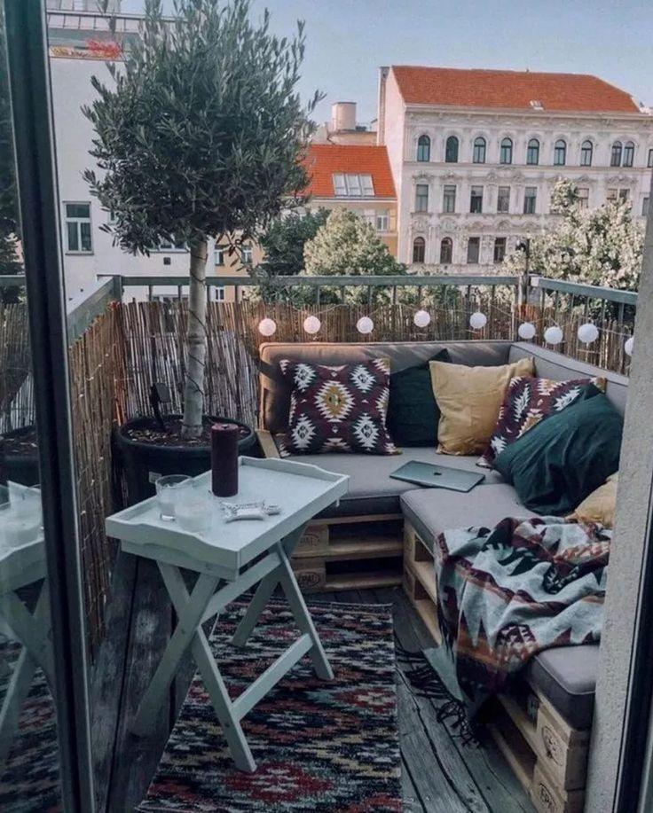 Photo of √59 Bequeme Wohnung Balkon Dekorieren Ideen mit kleinem Budget #Balkondekor #A…
