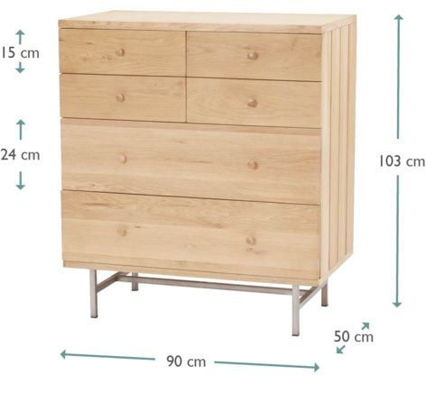 Large Jove Oak Chest Of Drawers | Wooden Chest Of Drawers Jove - Chests of drawers | Loaf