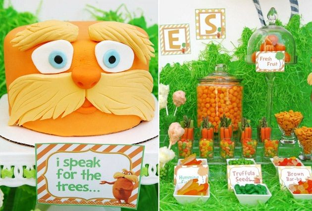 The Lorax Movie Themed Birthday Party
