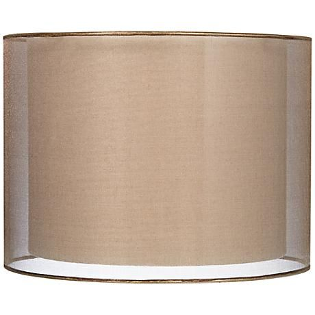 Create A Soft Glow With This Lovely Sheer Drum Lamp Shade In A Lovely Bronze Color Lamp Shade Lamp Swing Arm Wall Lamps