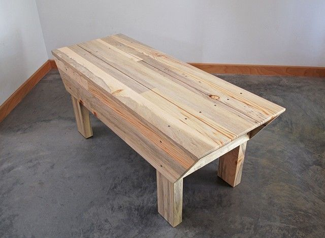 Modern beetle kill pine wood bench, handmade and designed by ...