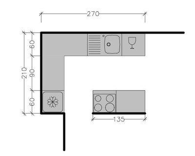 plan de cuisine avec lot central les 6 exemples suivre kitchens kitchen design and. Black Bedroom Furniture Sets. Home Design Ideas