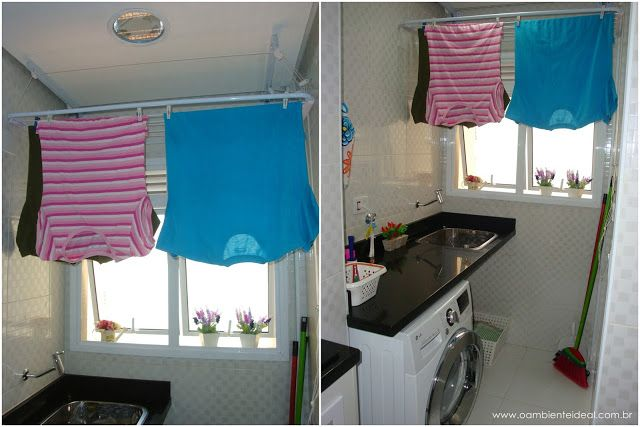 Varal para lavanderia pequena pesquisa google casa for Cortinas departamentos pequenos