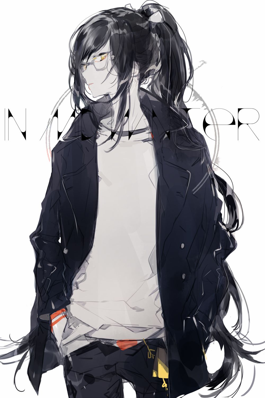 Ponytail girl · anime glasses boy · pixiv id 4162667 touken ranbu taroutachi long ponytail contemporary high ponytail
