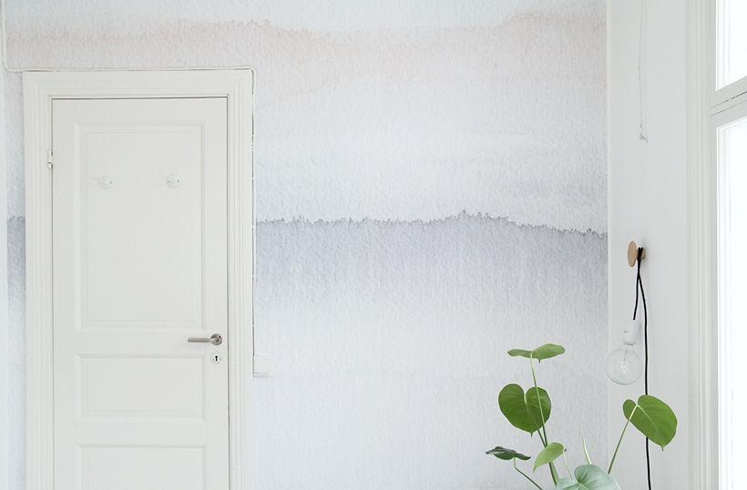 GRYNING   MAIJU SAW esta pared parece de acuarela!