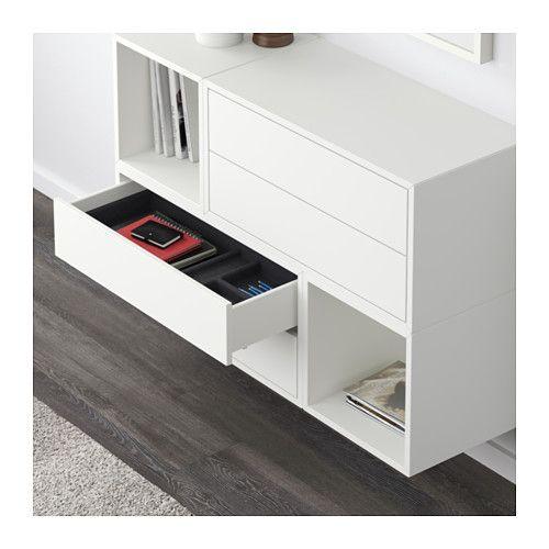 Eket Wall Mounted Cabinet Combination White 41 3 8x13 3 4x27 1 2