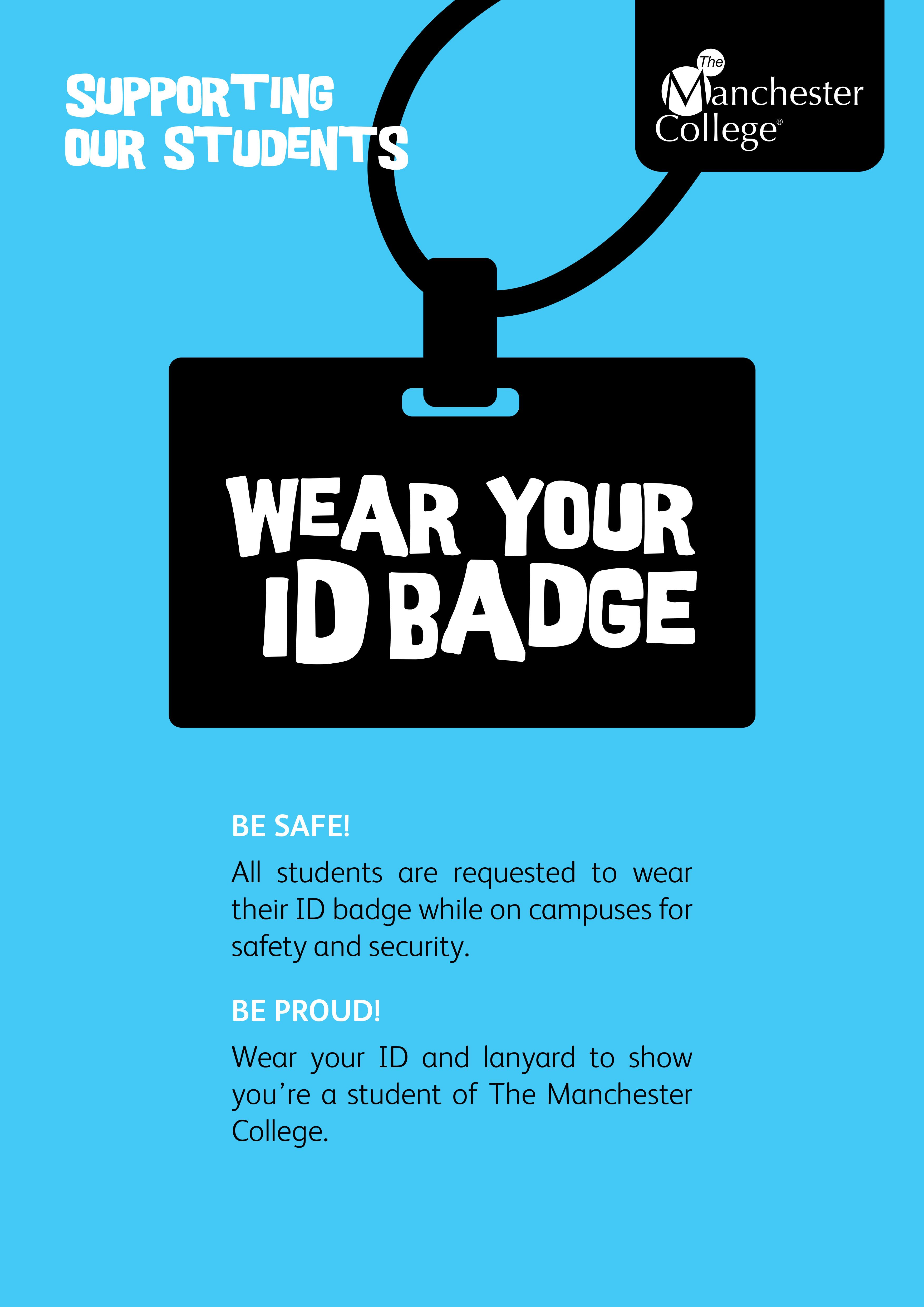 Poster design for students - Id Badge Poster Part Of A Suite Of Posters For Student Support Created By
