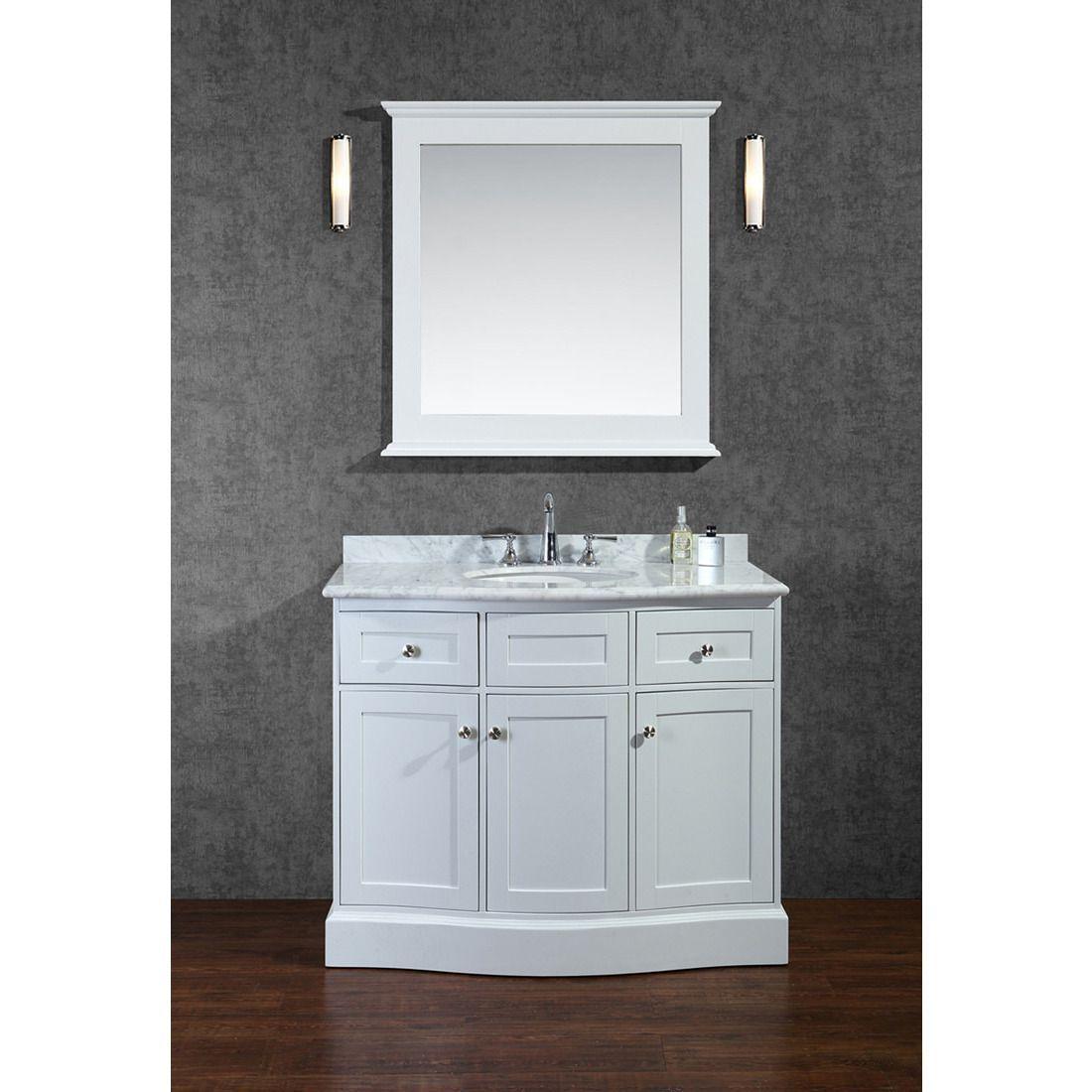 Seacliff By Ariel Montauk 42 Single Sink Bathroom Vanity Set In White Single Sink Vanity White Vanity Bathroom Bathroom Sink Vanity