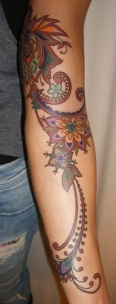 Henna Tattoo Ink: Henna-inspired Ink, Beautiful Tattoo Sleeve, Tattooed