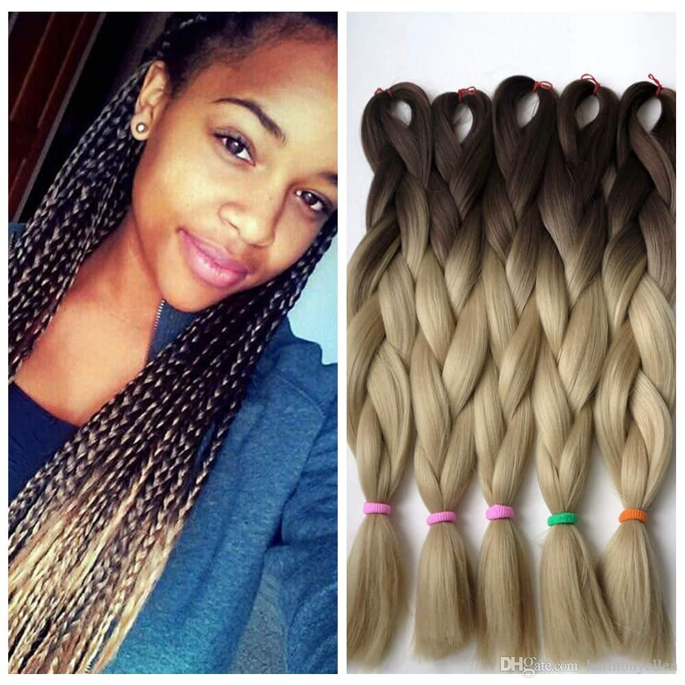 kanekalon synthetic jumbo braiding hair ombre two tone