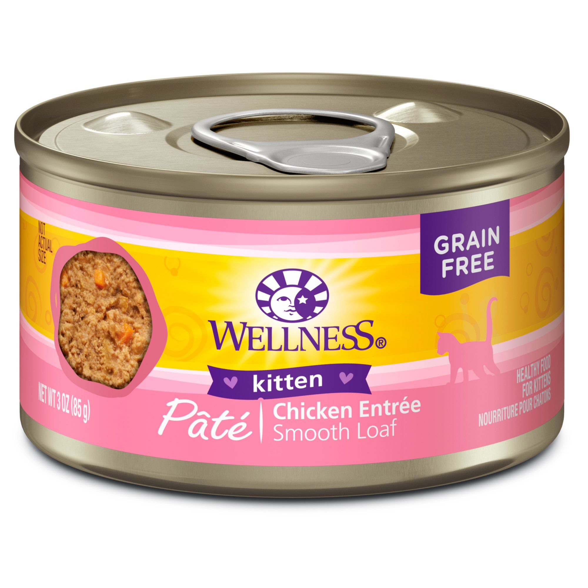 Wellness Complete Health Natural Grain Free Kitten Wet Cat Food 3 Oz Case Of 24 24 X 3 Oz Canned Cat Food Food Health Chicken Recipes
