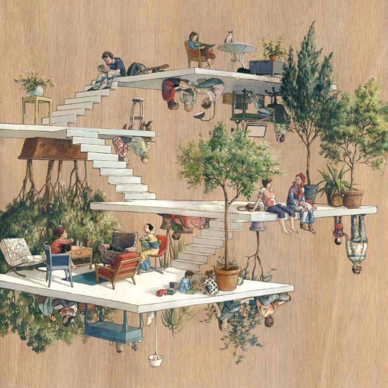 Surreal architectural drawings by cinta vidal agulló