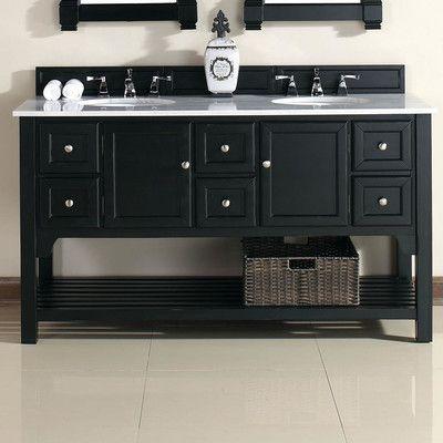 "James Martin Furniture South Hampton 60"" Double Vanity Set & Reviews | Wayfair"