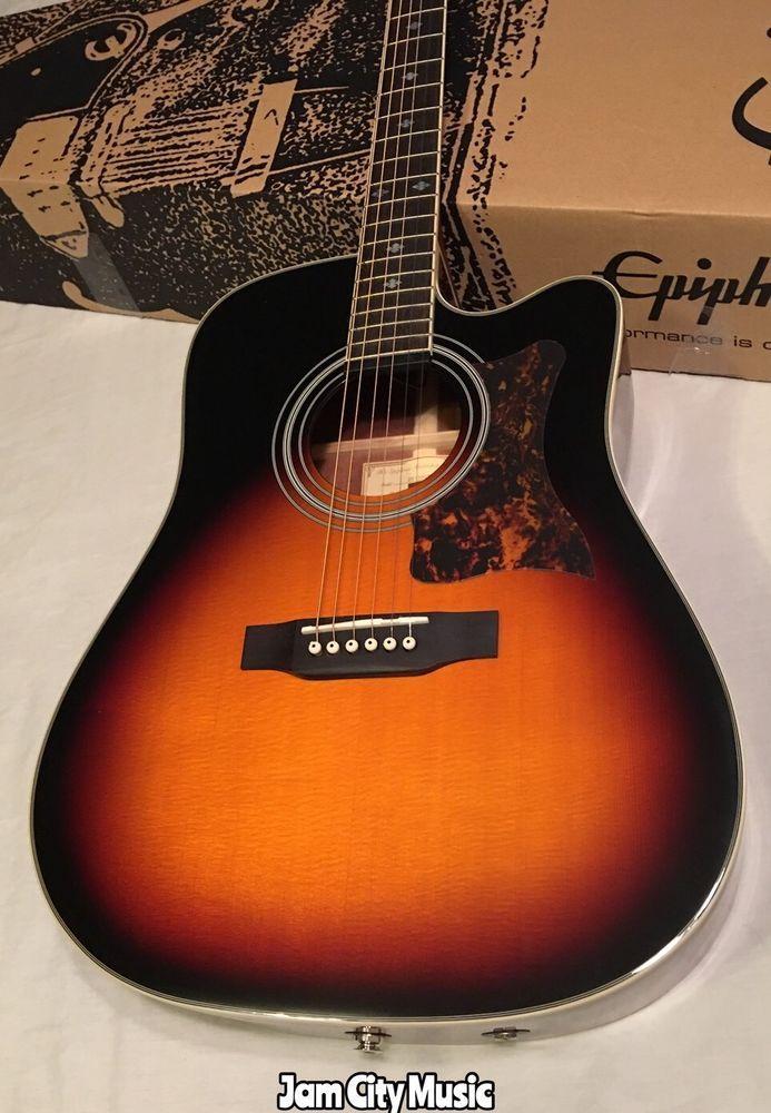 Gibson Epiphone Masterbilt Dr 500mce Acoustic Electric Guitar Vsb