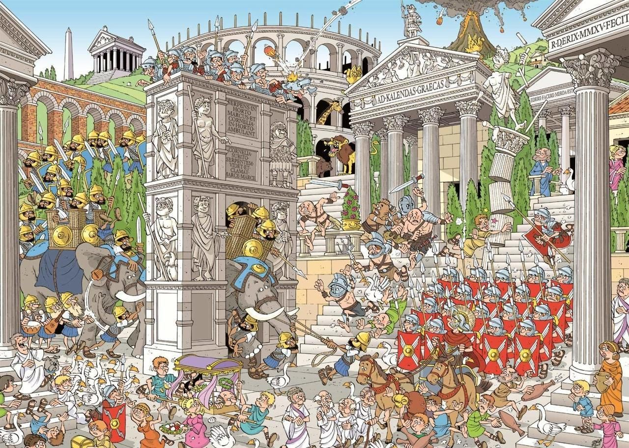 Pieces of History: The Romans - 1000pc Jigsaw Puzzle By