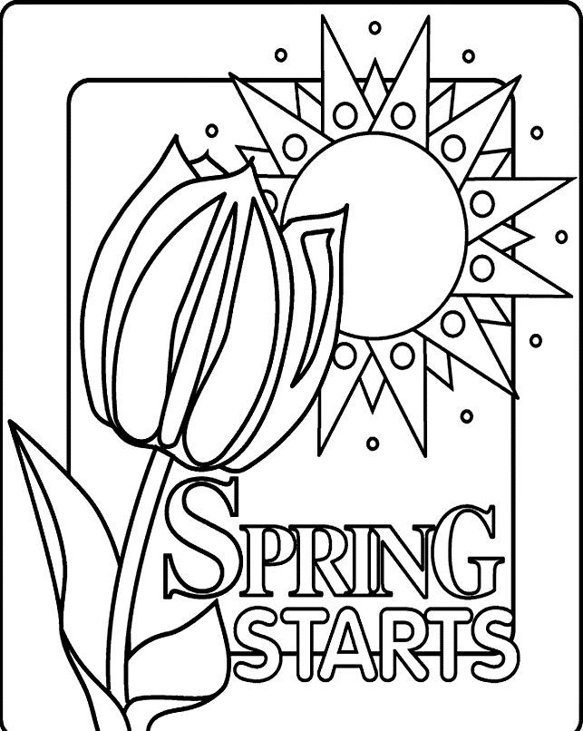 Spring Coloring Pages For Kids - http://fullcoloring.com/spring ...