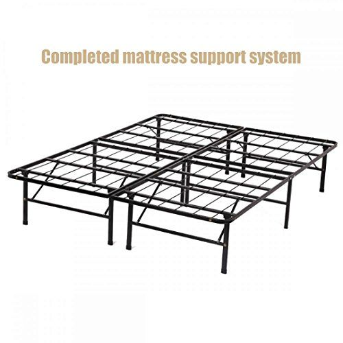 Bed Frame DIY] New Modern Bi-fold Folding Platform Metal Base Frame ...