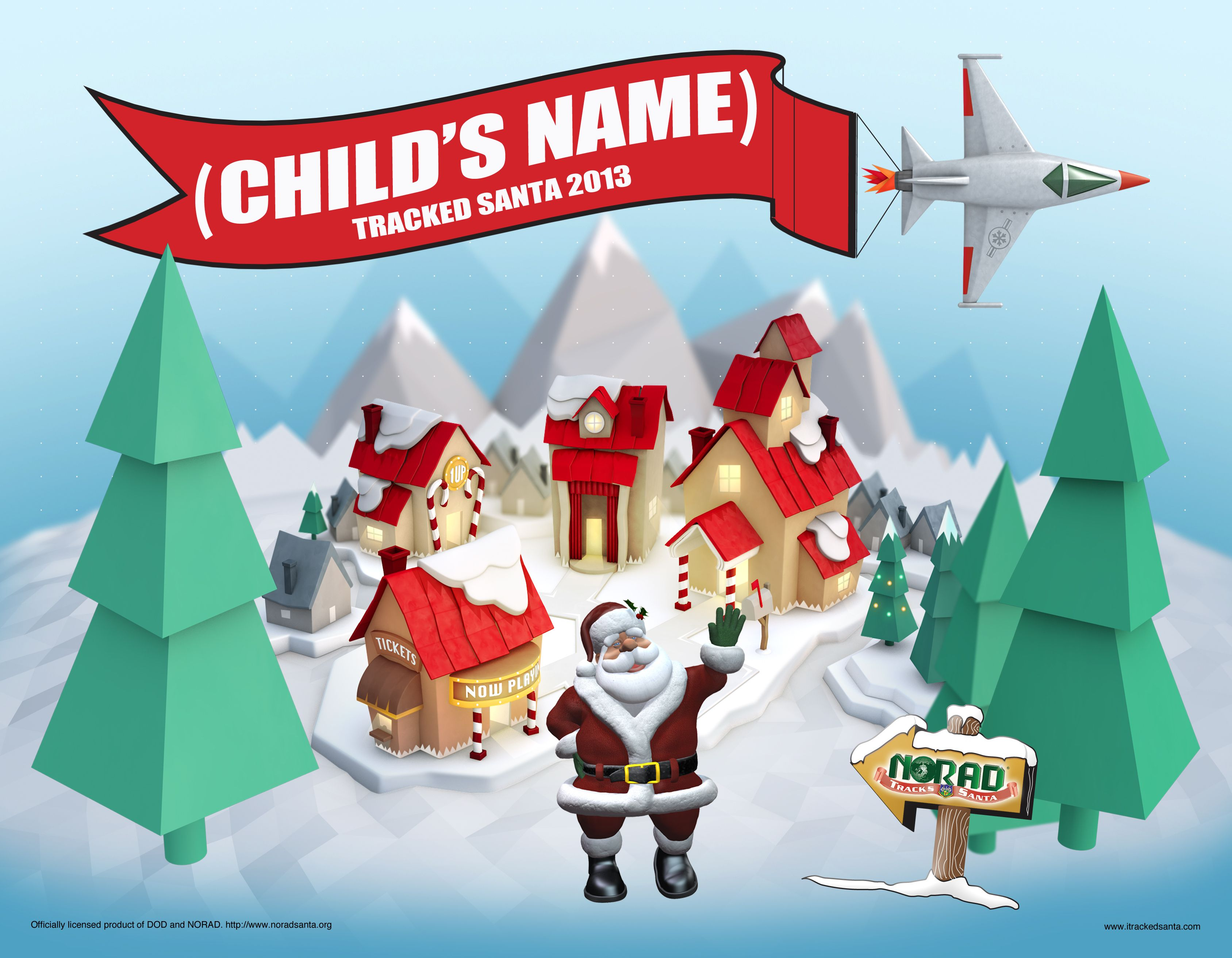 Letter from Santa (NORAD Tracks Santa) | Holidays | Pinterest ...