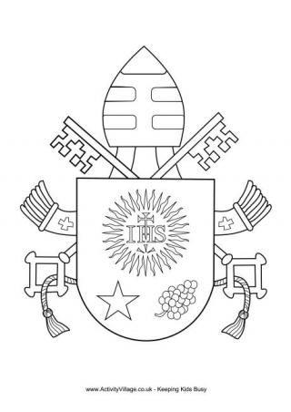 Pope Francis Coat of Arms Colouring | kindergarten Catholic ...