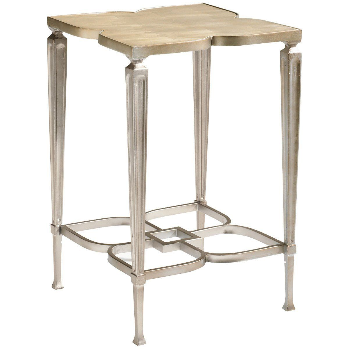 Caracole Taupe Silver Leaf Accent Table In 2019 Products