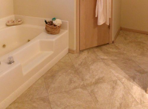 How To Lay A Travertine Vinyl Tile Floor With Grout Great Look
