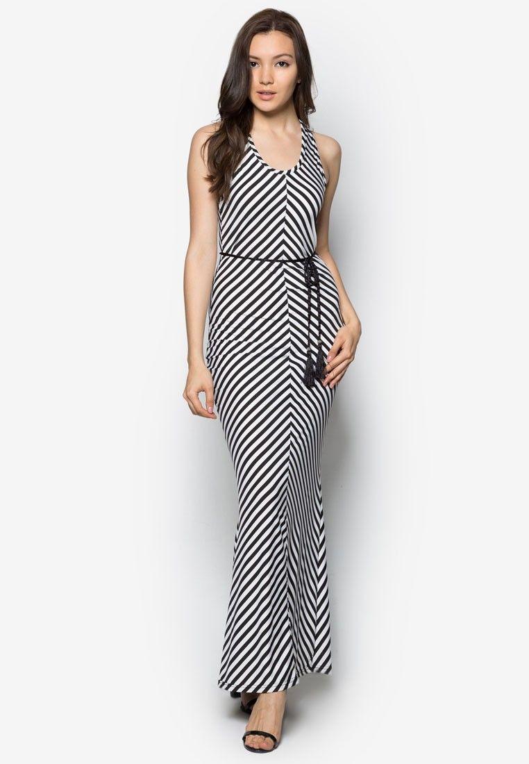 fee010b8a4 Buy BLUESKY LOVE Stripes Maxi Dress Online | ZALORA Malaysia | style ...