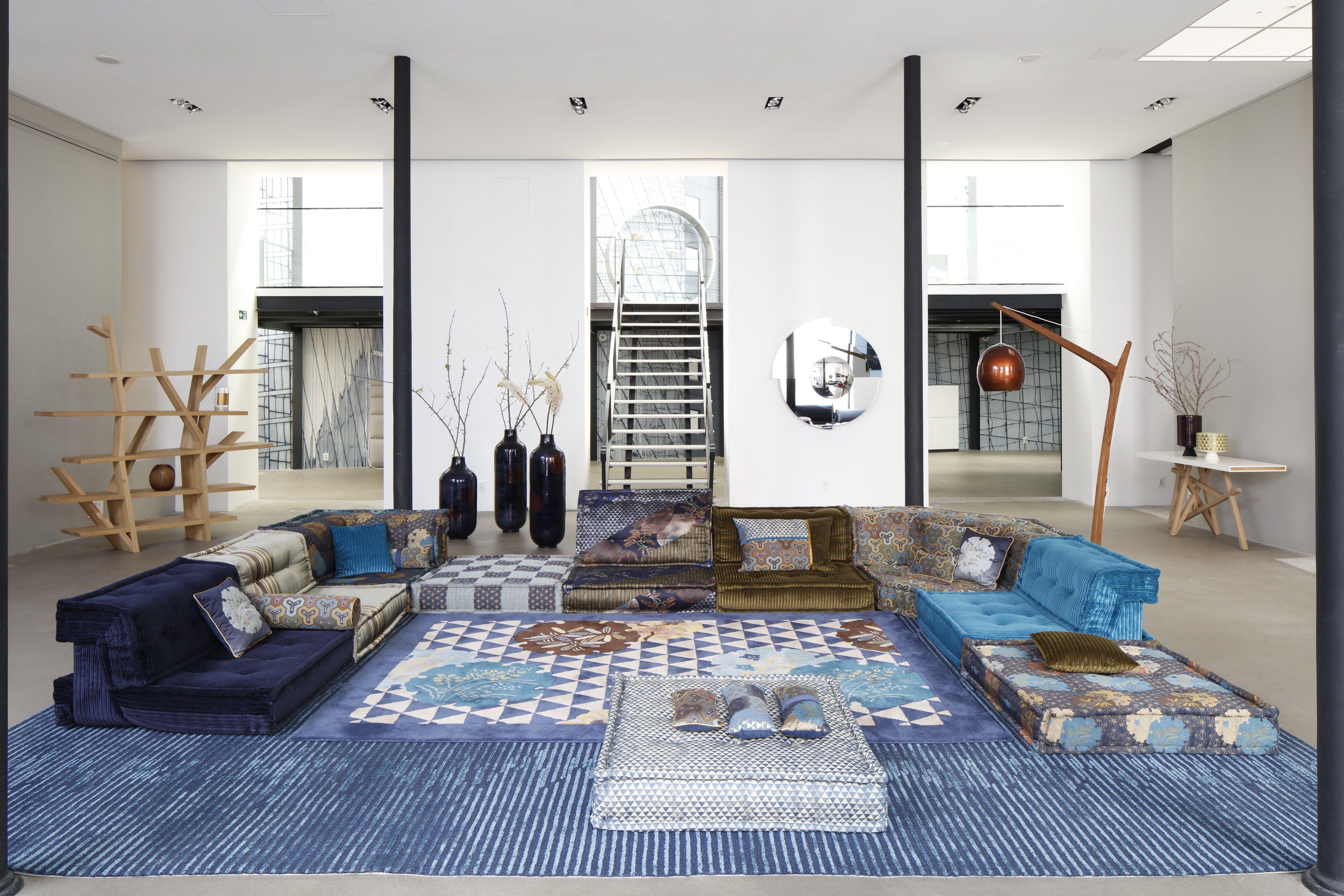 Bobois Mobili ~ Kenzo takada reimagines an iconic roche bobois sofa japanese