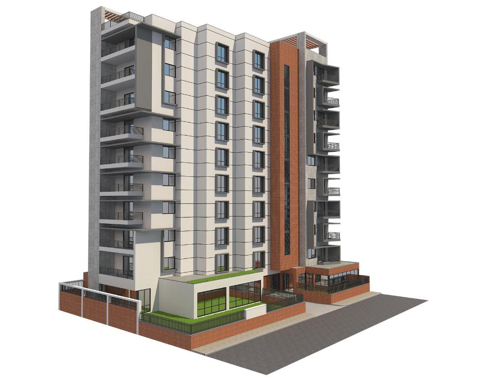 Apartment Building 16 3d Model Apartment Building 3d Model Exterior