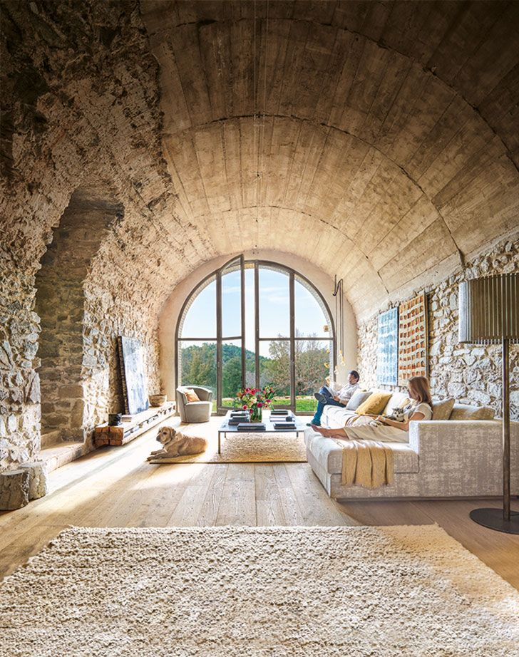 Inspired by the past and nature old farm transformation in Spain is part of  - The owners of this mountain house in Spain is a creative family of designers and painters, so for them, the restoration of this old farm, on the one hand, ✌Pufikhomes  source of home inspiration