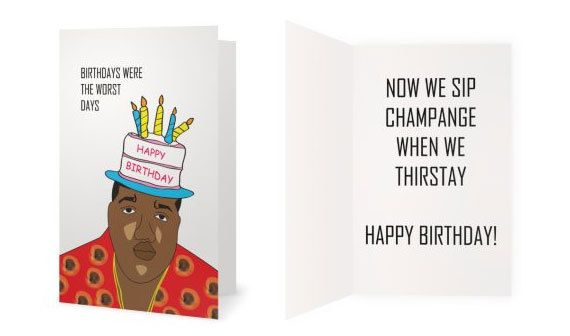 Birthdays Were The Worst Days Biggie Smalls Happy Birthday Card 5x7