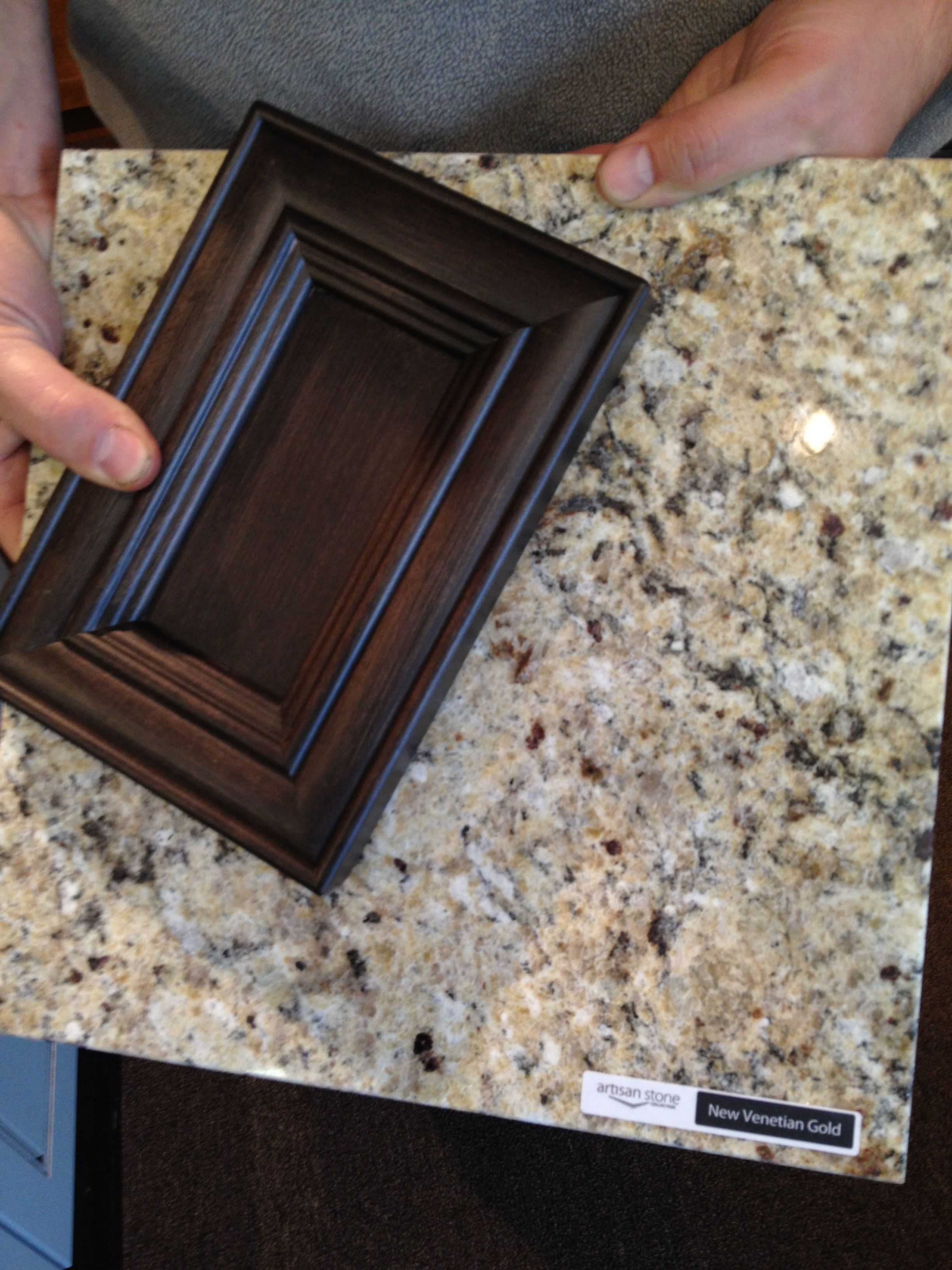 Kitchen makeover: Harmony Maple Vintage Charcoal cupboards ... on What Color Granite Goes With Maple Cabinets  id=65266
