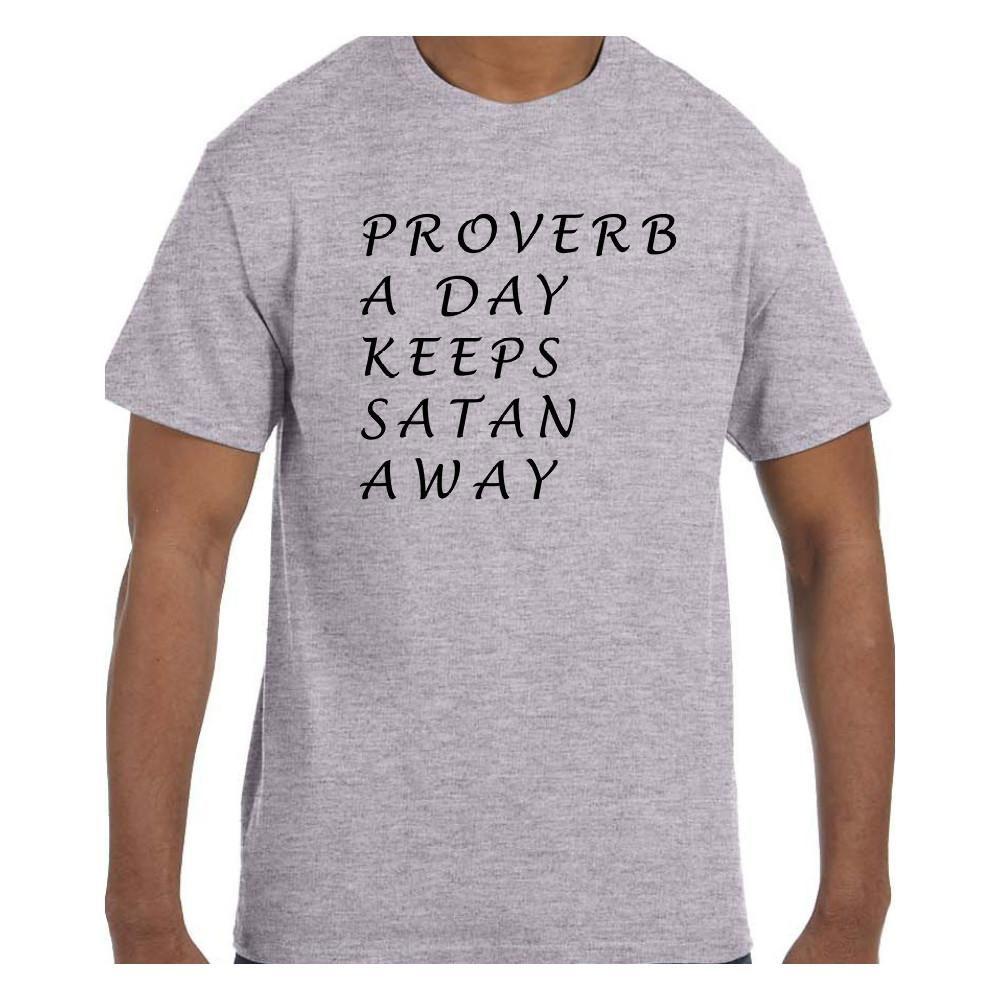Christian Religous Tshirt Proverb a Day Keeps Satan Away
