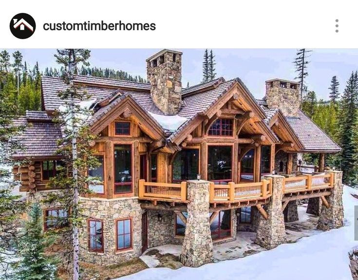 Photo of This could be my second home ??♀️ – #home #logcabins