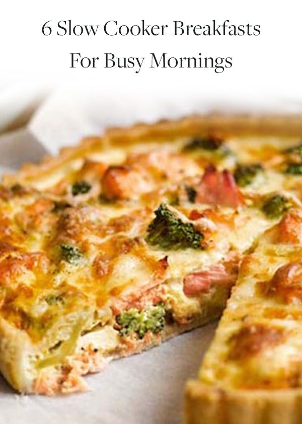 6 Slow Cooker Breakfasts for Busy Mornings. Set it and forget it recipes so you can get on with your busy morning. Easy breakfasts recipes so you can enjoy more and stress less.