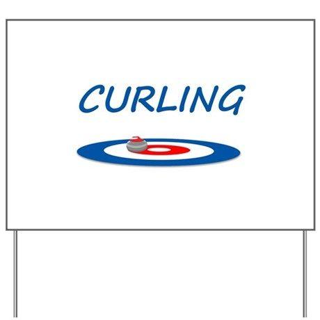 Curling Yard Sign by Kinnikinnick_Arts | Sign design Yard ...