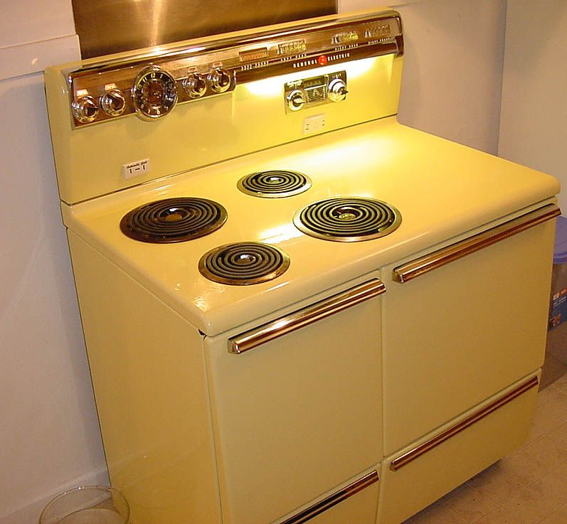 1960 S Ge Electric Range Cory Grandma Has This Exact Stove I Want A Yellow Vintage But Finding An One Is Difficult