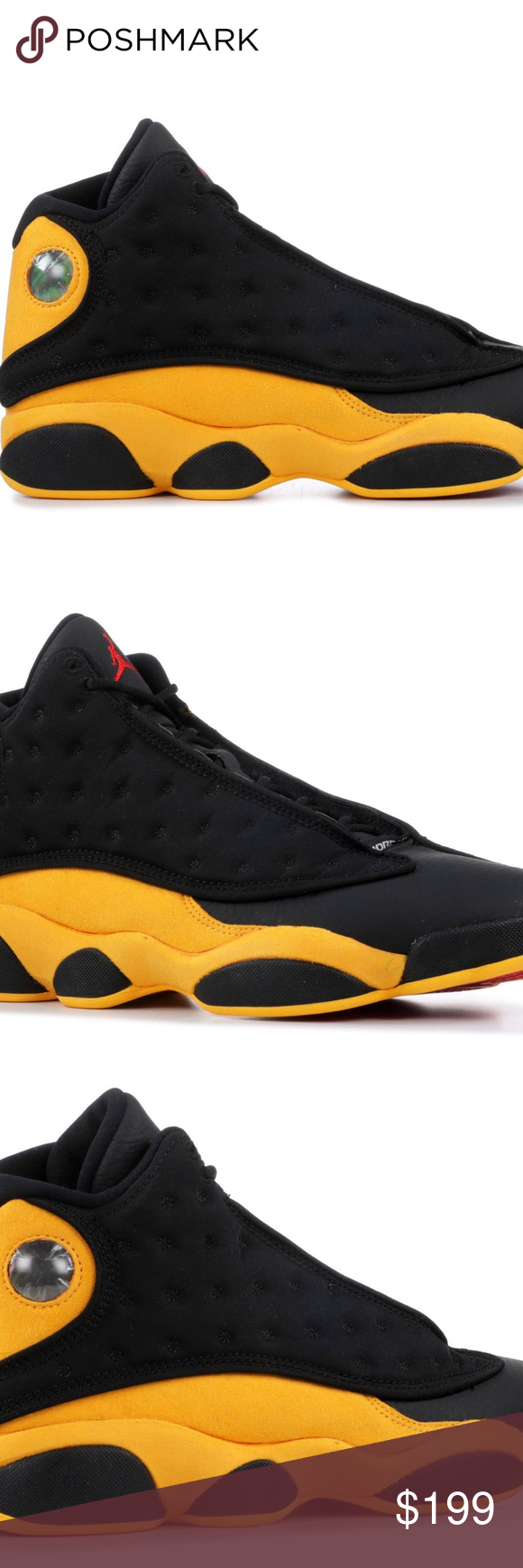 size 40 a67eb 372c5 Nike Air Jordan 13 XIII Retro Melo Black Yellow 10 Brand New ...