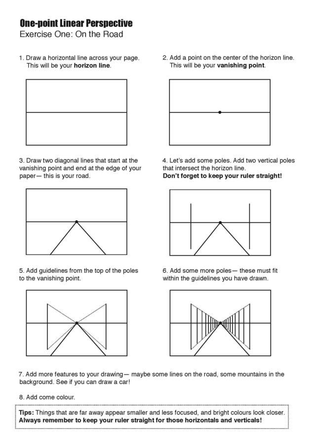 perspective handout1 Page 2.jpg   Art lessons elementary ...
