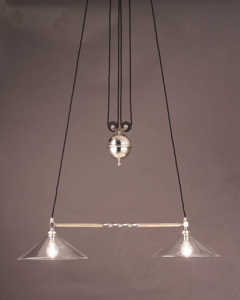 antique silver plate rise and fall pendant light looks