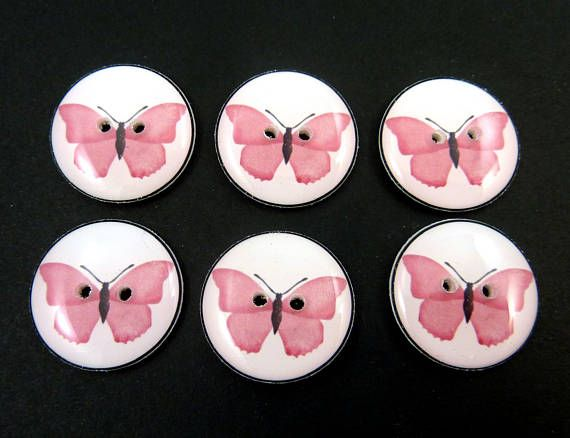 6 Pink Erfly Ons For Sewing Choose Your Size
