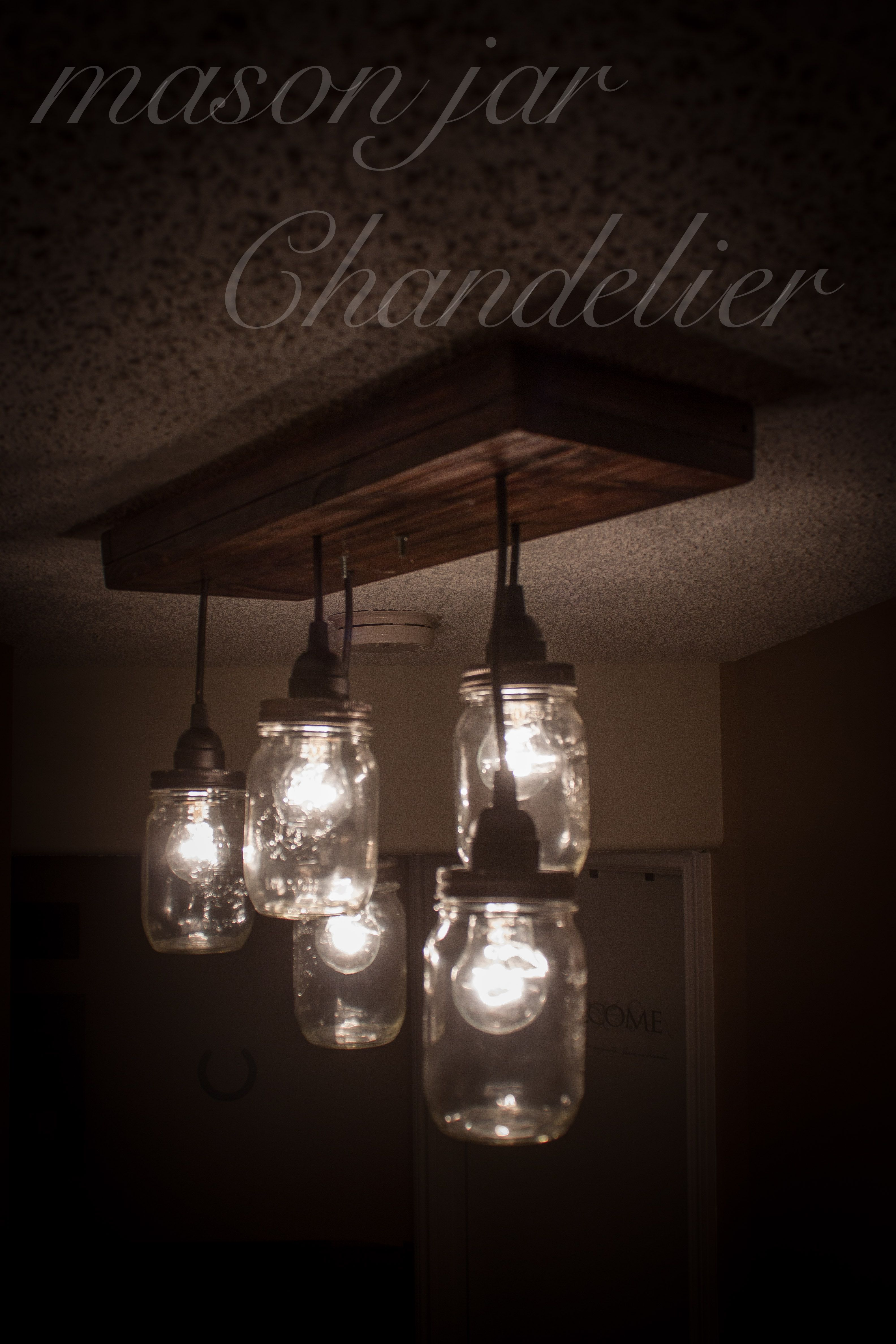 How to make a mason jar chandelier nifty ideas pinterest mason how to make a diy mason jar chandelier arubaitofo Image collections
