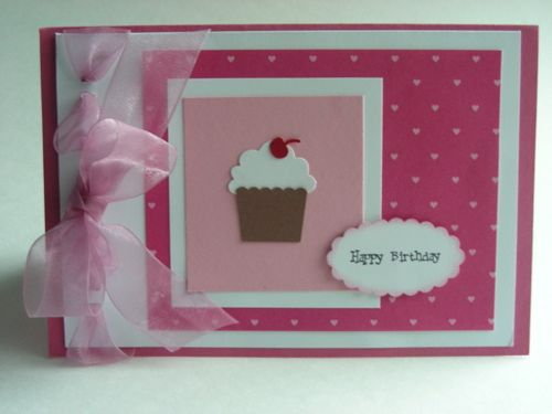 1000 images about Crafts paper birthday cards girl on – Cupcake Birthday Card