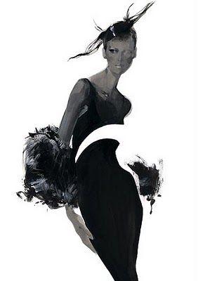 David Downton- fashion illustrator