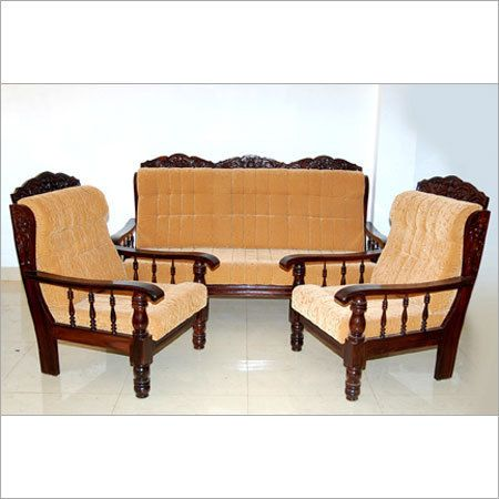 Luxury Wooden Sofa Set At Rs 12000/piece(s) | वुडन सोफा सेट - Maruti Furniture, Ahmedabad | ID:… | Wooden Sofa Set Designs, Wooden Sofa Set, Furniture Design Wooden