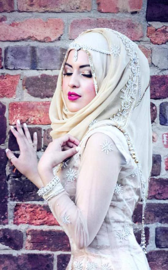 Unique wedding dresses muslim islamic woman dress for Unique wedding dress styles
