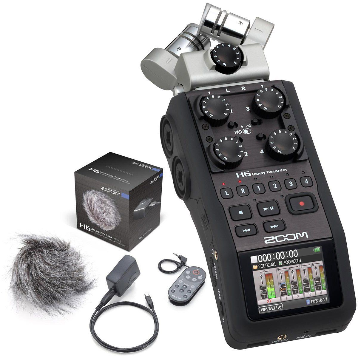 Zoom H6 Handy Portable Stereo Recorder & APH6