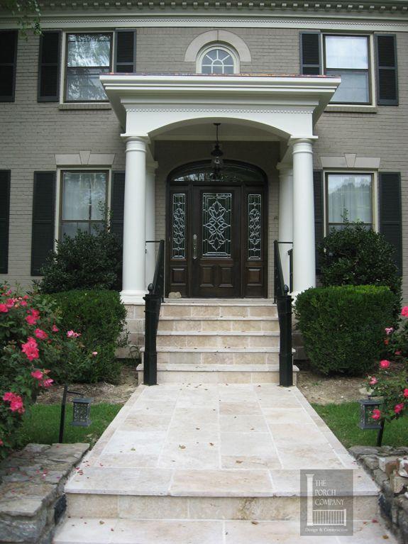 recessed front door ideas front door portico designs williamsburg colonial front porch